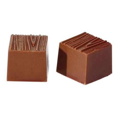 Vorm voor vierkant bonbon met houtprint
