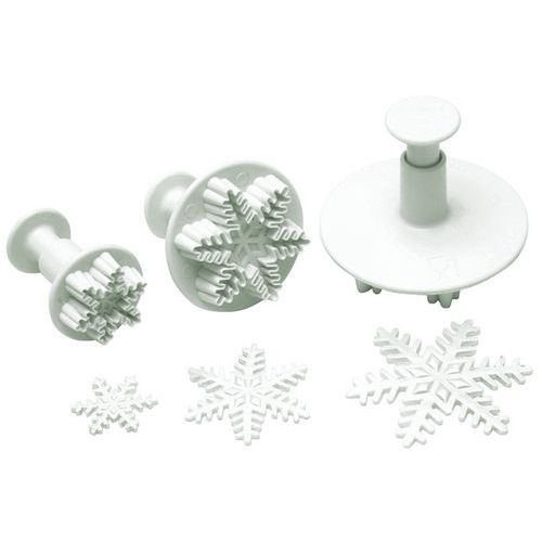 Uitstekers in de vorm van een sneeuwster met drukknop