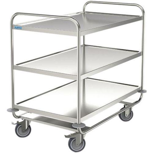 Roestvri jstalen serveerwagen - 3 legborden - Draagvermogen 200 kg