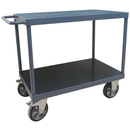 Tafelwagen met 2 plateaus - Draagvermogen 1200 kg - Manutan