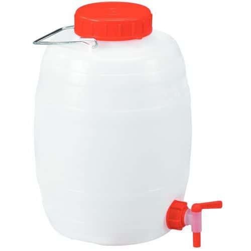 Plastic vat met kraan