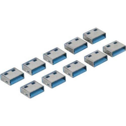 USB-poortblokker Type A met codering Blauw