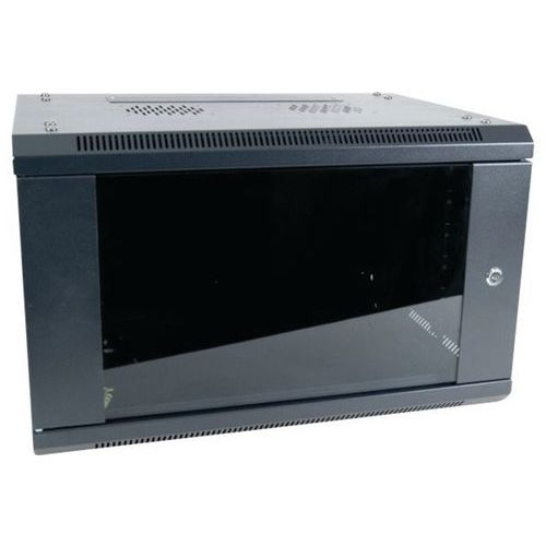 "Muurkast vast DEXLAN 19"" 12U prof 450 mm in kit (zwart)"