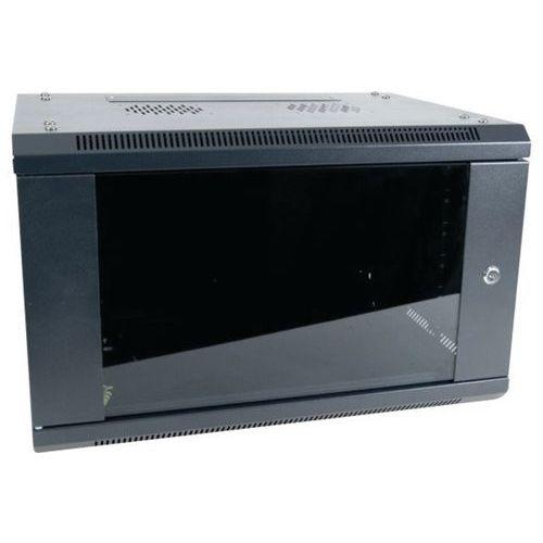 "Muurkast vast DEXLAN 19"" 6U prof 450 mm in kit (zwart)"