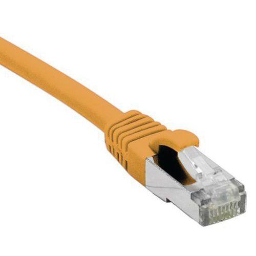Netwerkkabel RJ45 CAT 6A F/UTP LSOH SNG oranje 0.15 M