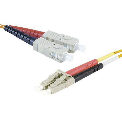 Draadbrug optisch Duplex 2 mm OM1 SC-UPC/LC-UPC oranje 10 m