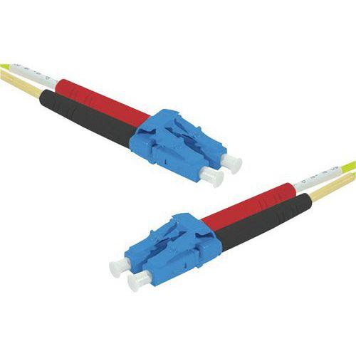 Kabel Duplex draadbrug OS2 LC-UPC/LC-UPC geel 30 m