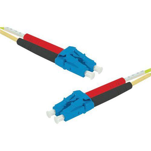Draadbrug Duplex OS2 LC-UPC/LC UPC geel 1 m