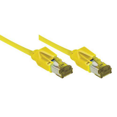 Netwerksnoer RJ45 op Kabel CAT 7 S/FTP LSOH SNG geel 1.5 m