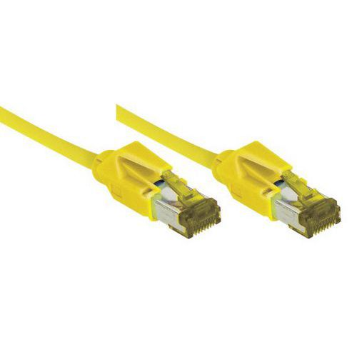 Netwerksnoer RJ45 op Kabel CAT 7 S/FTP LSOH SNG geel 20 m