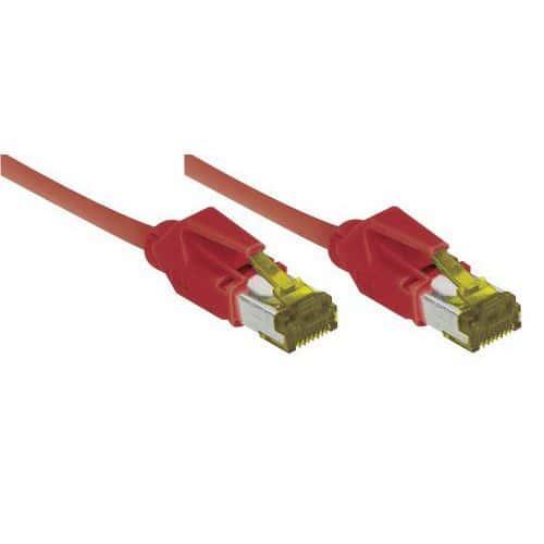 Netwerksnoer RJ45 op Kabel CAT 7 S/FTP LSOH SNG rood 5 m