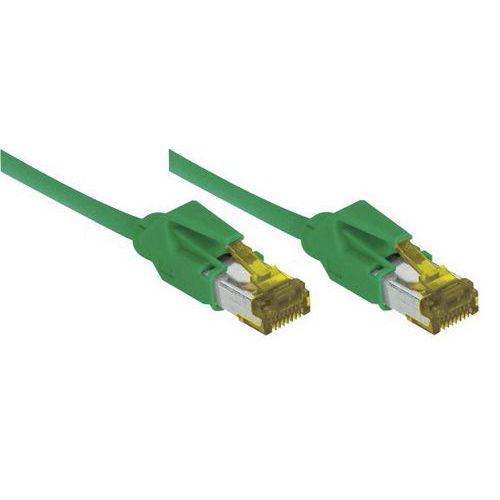 Netwerksnoer RJ45 op Kabel CAT 7 S/FTP LSOH SNG groen 5 m