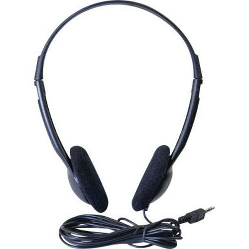 Stereo headset Eco 3.5 mm jack zwart (5 m)