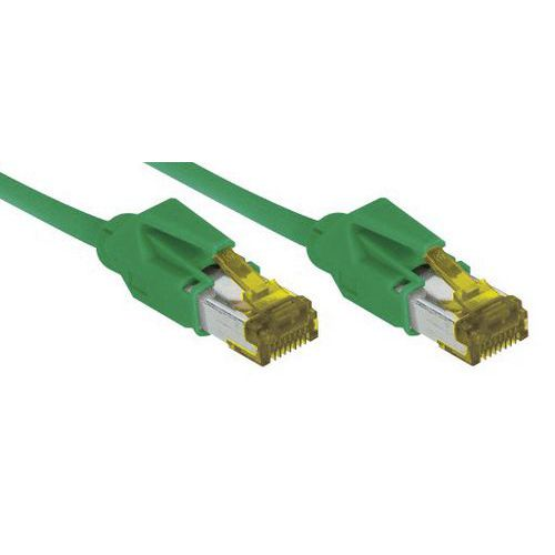 Netwerksnoer RJ45 op Kabel CAT 7 S/FTP LSOH SNG groen 15 m