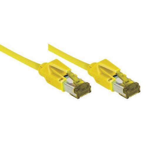 Netwerksnoer RJ45 op Kabel CAT 7 S/FTP LSOH SNG geel 15 m