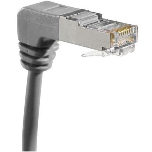 Netwerkkabel RJ45 CAT 6 S/FTP gebogen grijs 2 m