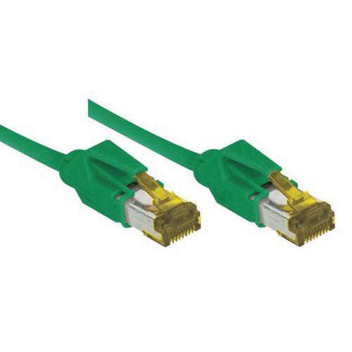 Netwerksnoer RJ45 op Kabel CAT 7 S/FTP LSOH SNG groen 0.3 m