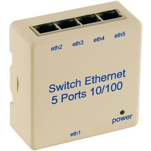 Switch 5 poorten 10/100 voor dinrail