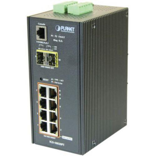Planet IGS-10020PT IND Switch L2 8 GIGA POE+ 2 SFP 100FX/1G