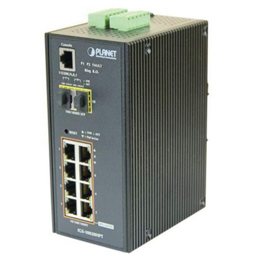 Planet IGS-10020HPT IND Switch L2 8 GIGA POE+ 2 SFP 100FX/1G