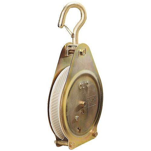 Katrol voor kabel-Ø 20 tot 26 mm met automatische stop - Draagvermogen 100 kg
