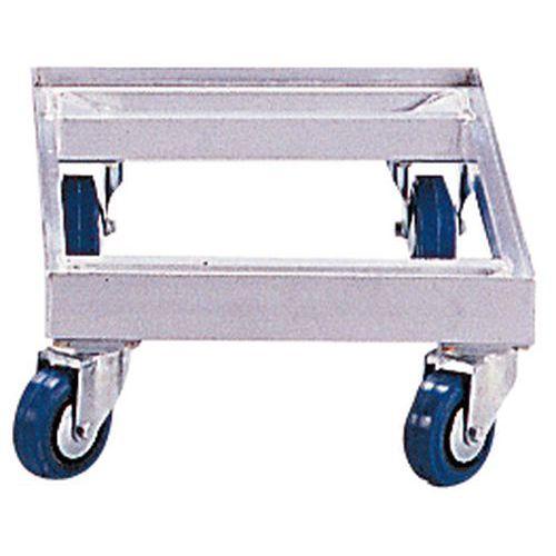 Aluminium dolly - Voor Eurobakken - Draagkracht 350 kg