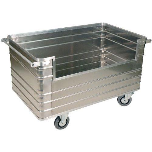 Aluminium bakwagen met 1/2 open paneel