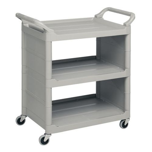 Kunststof etagewagen met 3 legborden - Draagvermogen 65 kg
