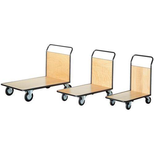 Plateauwagen - 1 vast rugpaneel - Laadvermogen 500 kg