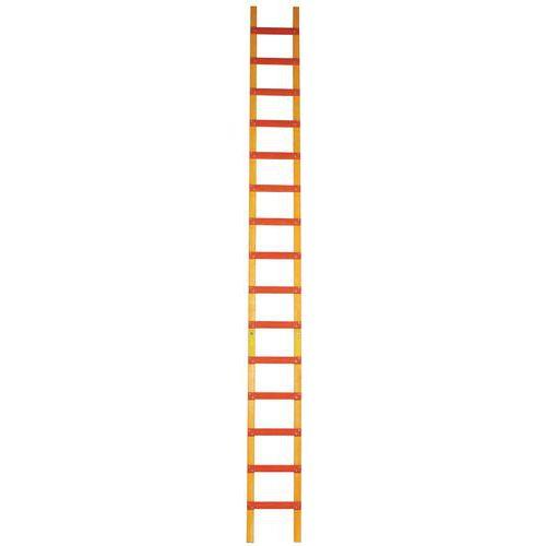 Dakladder, hout - 11 tot 19 treden - Spreiding 25 cm