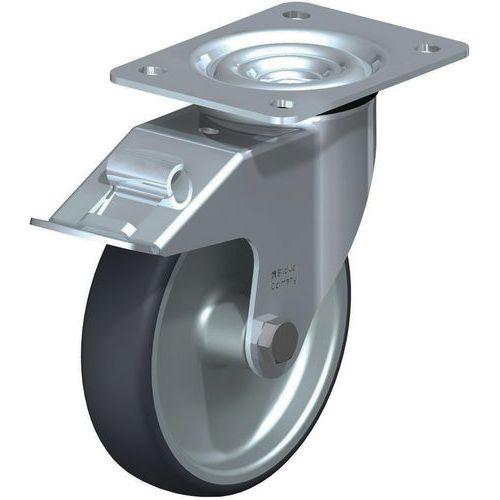 Zwenkwiel met plaat en rem - Draagvermogen 200 kg