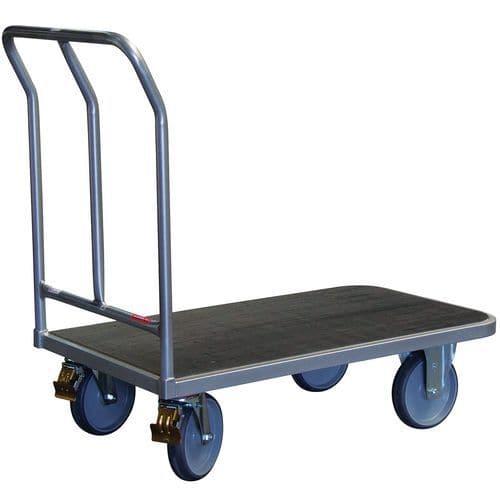 Ergonomische plateauwagen met vaste duwbeugel - Laadvermogen 400kg