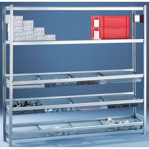 Stelling Easy-Fix Plus - Gaasmand - Hoogte 2000mm - Diepte 400mm