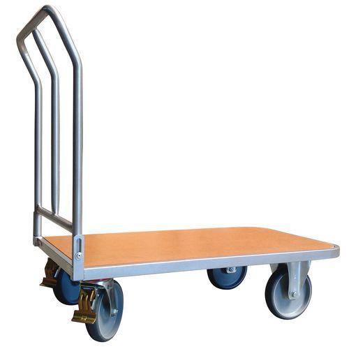 Ergonomische plateauwagen met inklapbare duwbeugel - laadvermogen 400kg