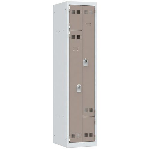 L-vormige, ruimtebesparende garderobekast - 1 kolom - Breedte 400 mm