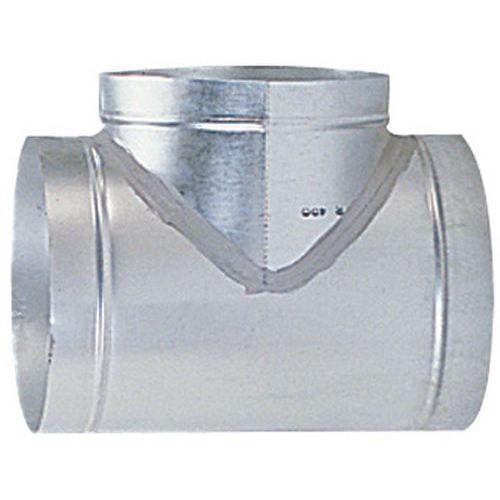 Aftakking van 90° ventilatiebuizen - Ø 80 à 125 mm