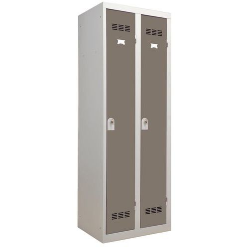 Garderobekast lichte industrie - 2 kolommen - Breedte 300 mm - Vinco