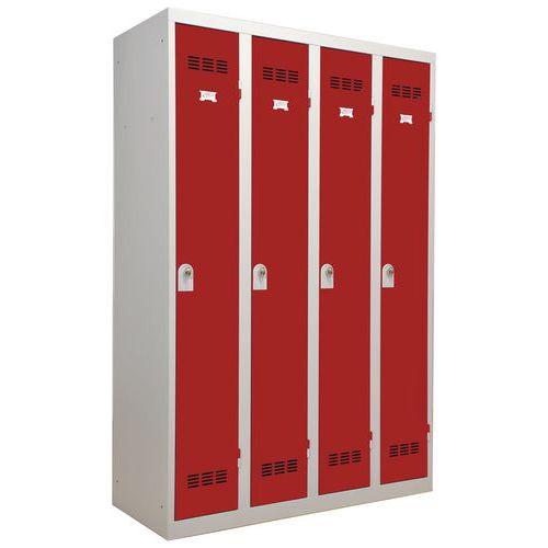 Garderobekast lichte industrie - Breedte 300 mm - 4 kolommen - Vinco