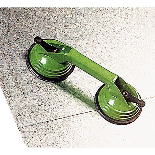 Dubbele metalen zuigheffer - Draagvermogen 80 kg
