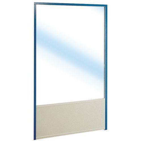 Enkelvoudige scheidingswand in melamine paneel in glas hoogt for Verwijderbaar glas