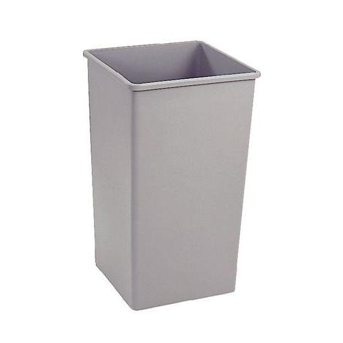 Vierkante Afvalbak In Kunststof 133 L Manutan