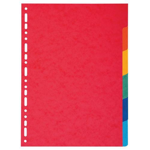 Tabblad 50 st. recycled karton 220g 6 tabs A4 Exacompta