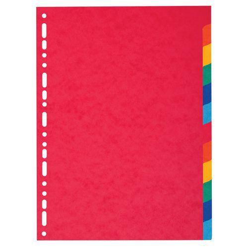 Tabblad 25 st. recycled karton 220g 12 tabs A4 Exacompta