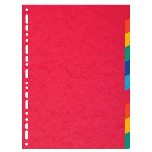 Tabblad 25 st. recycled karton 220g 10 tabs A4 Exacompta