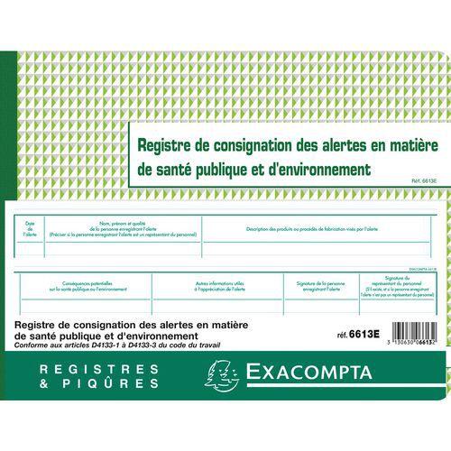 Register alarm volksgezondheid en milieu 24x32cm Exacompta