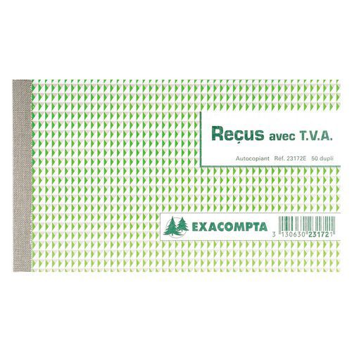 Ontvangstbewijs doorschrijfpapier 10,5x18 dupl FR. Exacompta