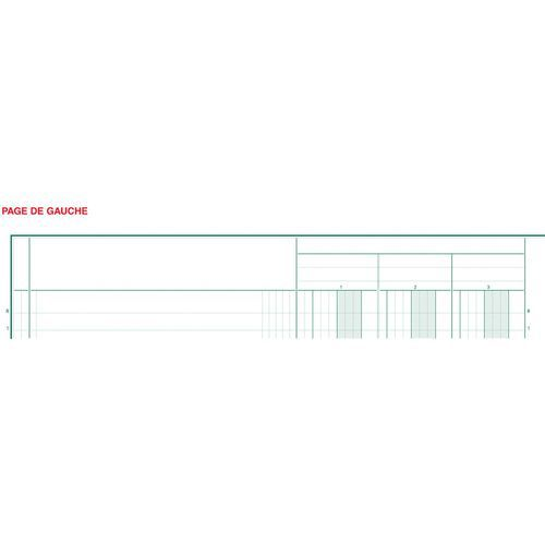 Register 32x25cm 10 kolommen op 2 pagina's 31 lijnen 80 blad