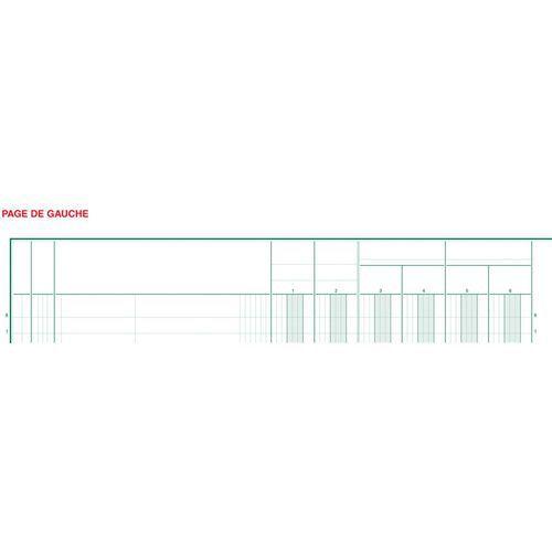 Register 32x25cm 18 kolommen op 2 pagina's 33 lijnen 80 blad