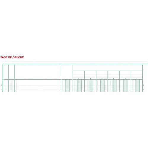 Register 32x25cm 19 kolommen op 2 pagina's 33 lijnen 80 blad