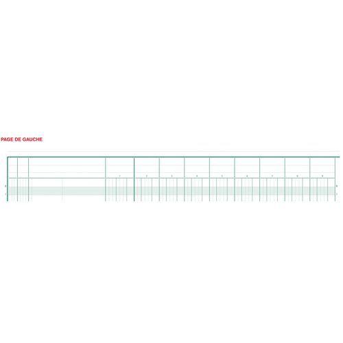 Register 25x32cm 22 kolommen op 2 pagina's 24 lijnen 80 blad